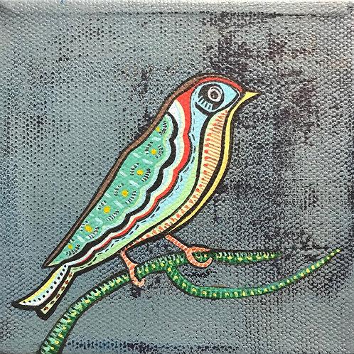 J'Brenta Jordan, multi-colored bird