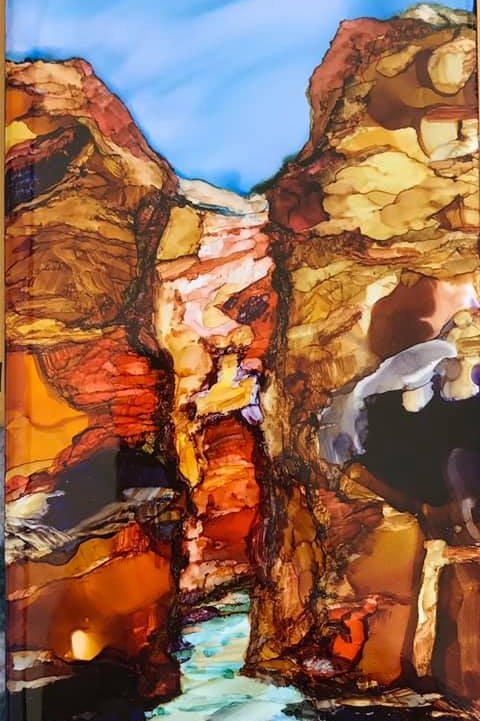 Debra Piedrafita, gorge window