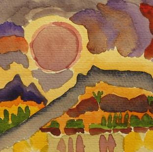 Annie Degen, watercolor
