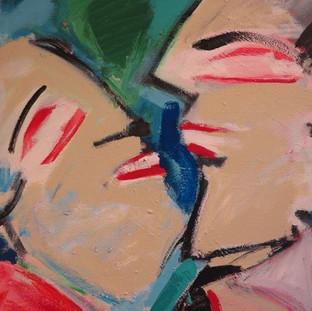 Bill Gersh, Chinese Painters, acrylic