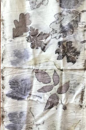 Mary Steigerwald, botanical silk scarf