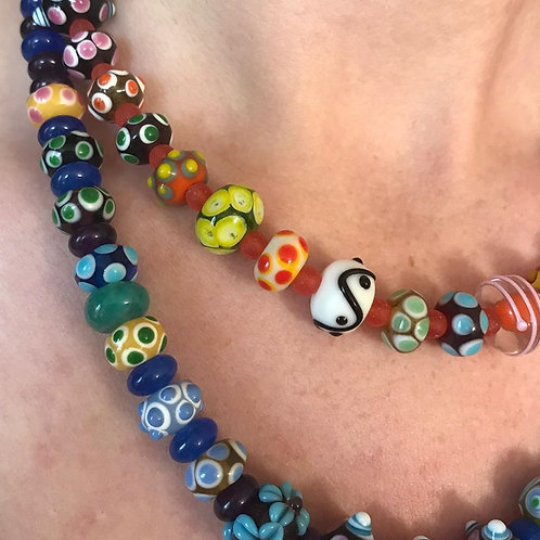 Georgia Gersh, lampwork glass neckalces