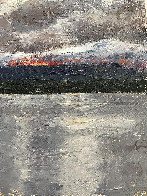 Seamus Berkeley, Water, Mountain, Sun, Clouds