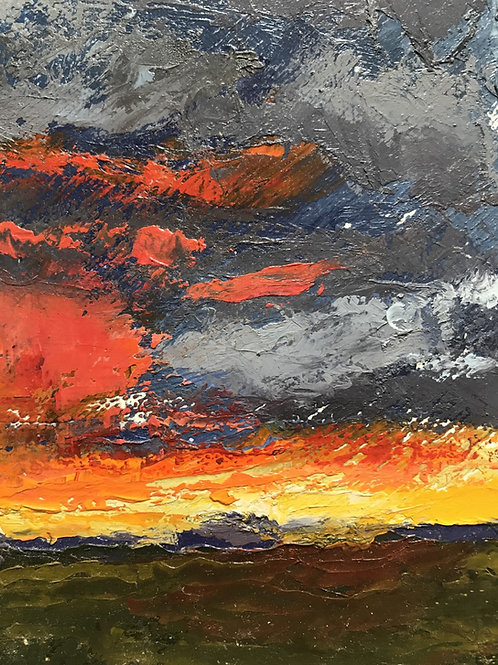 Seamus Berkeley, Sun Setting Over the Mesa