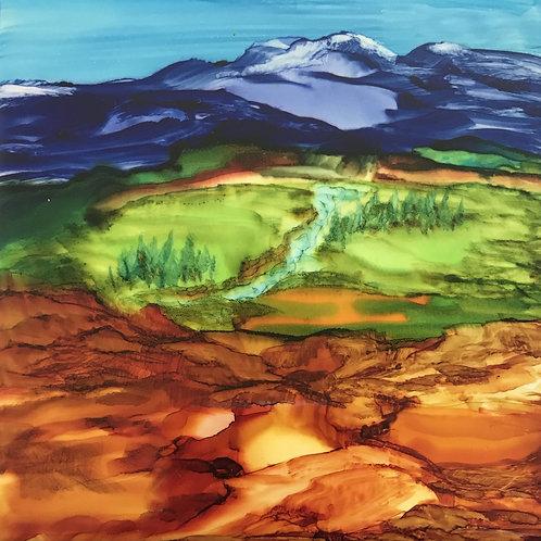 Debra Piedrafita, Taos Mountain in Spring