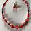 "Thumbnail: Georgia Gersh, ""coral"" necklace and earring set"
