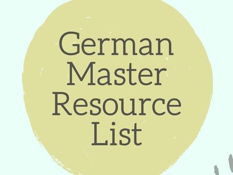 German Resource Master List