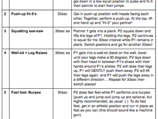 Workout of the Month- Partner workout