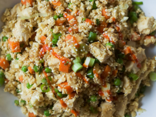 [15-minute] Chicken Fried Cauliflower Rice