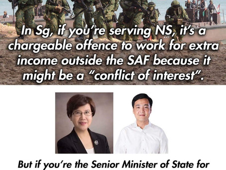 No conflict of interest whenever it involves PAP