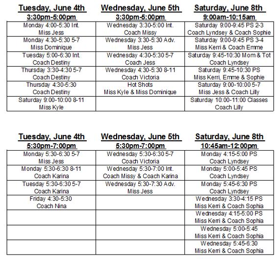 2019 Summer Class Schedule Screenshot.PN