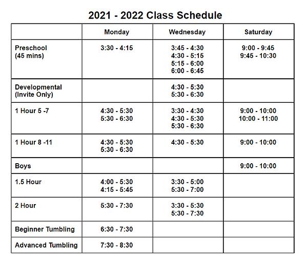 2021-2022 Class Schedule.PNG