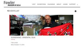 Screening: Oriental Silk at the Fowler Museum