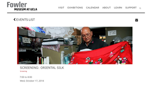 Screening: Oriental Silk at the Fowler Museum