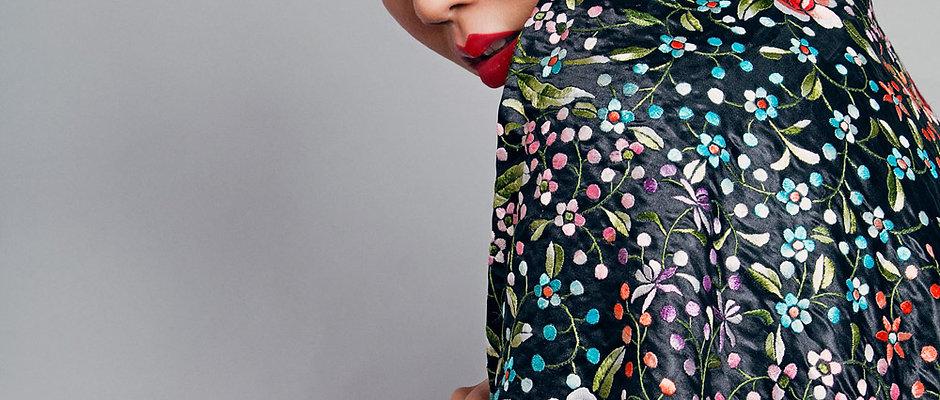 ANNA MAY WONG Flamenco Silk Shawl