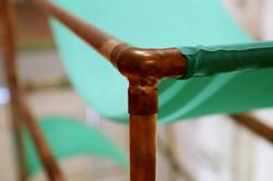 Unrolled Silks, installation detail