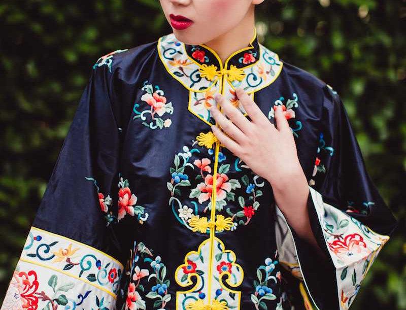 CHINESE GARDEN Silk Embroidered Jacket