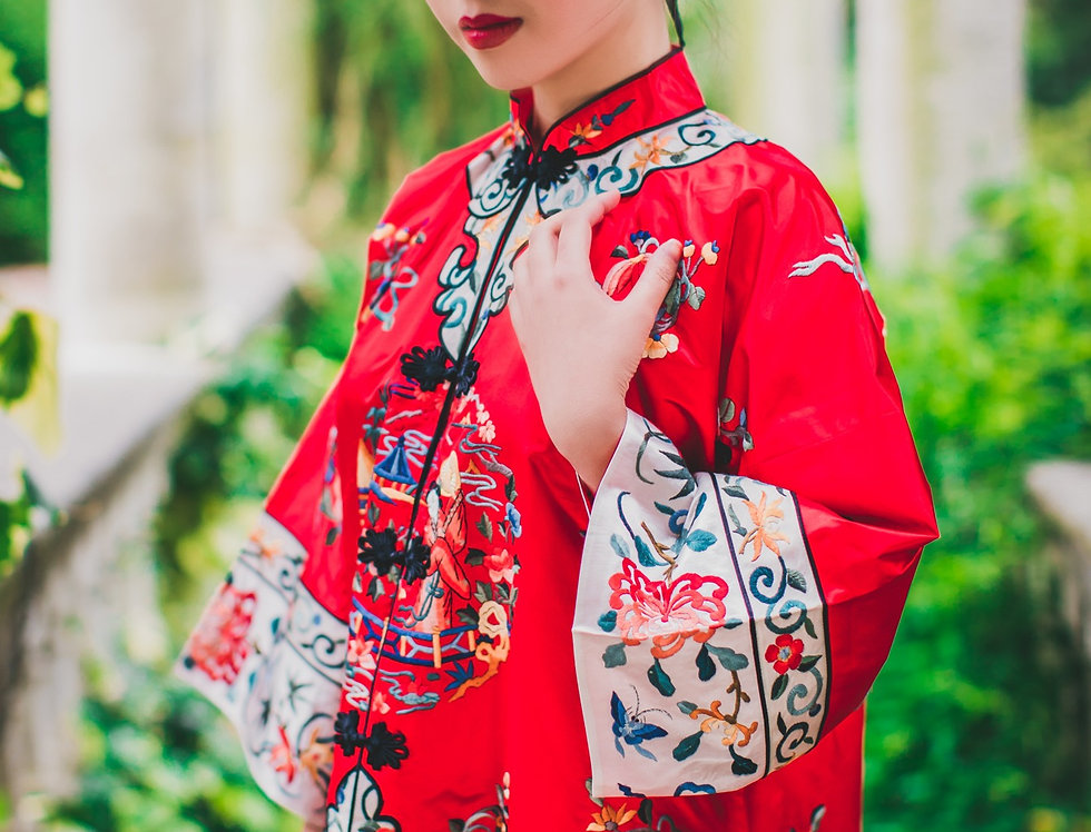 DREAM OF THE RED MANSION Silk Embroidered Coat