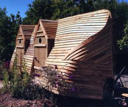 Campsite 'poop deck' mobile toilets