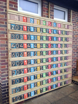 Number square board, Primary School, Sussex