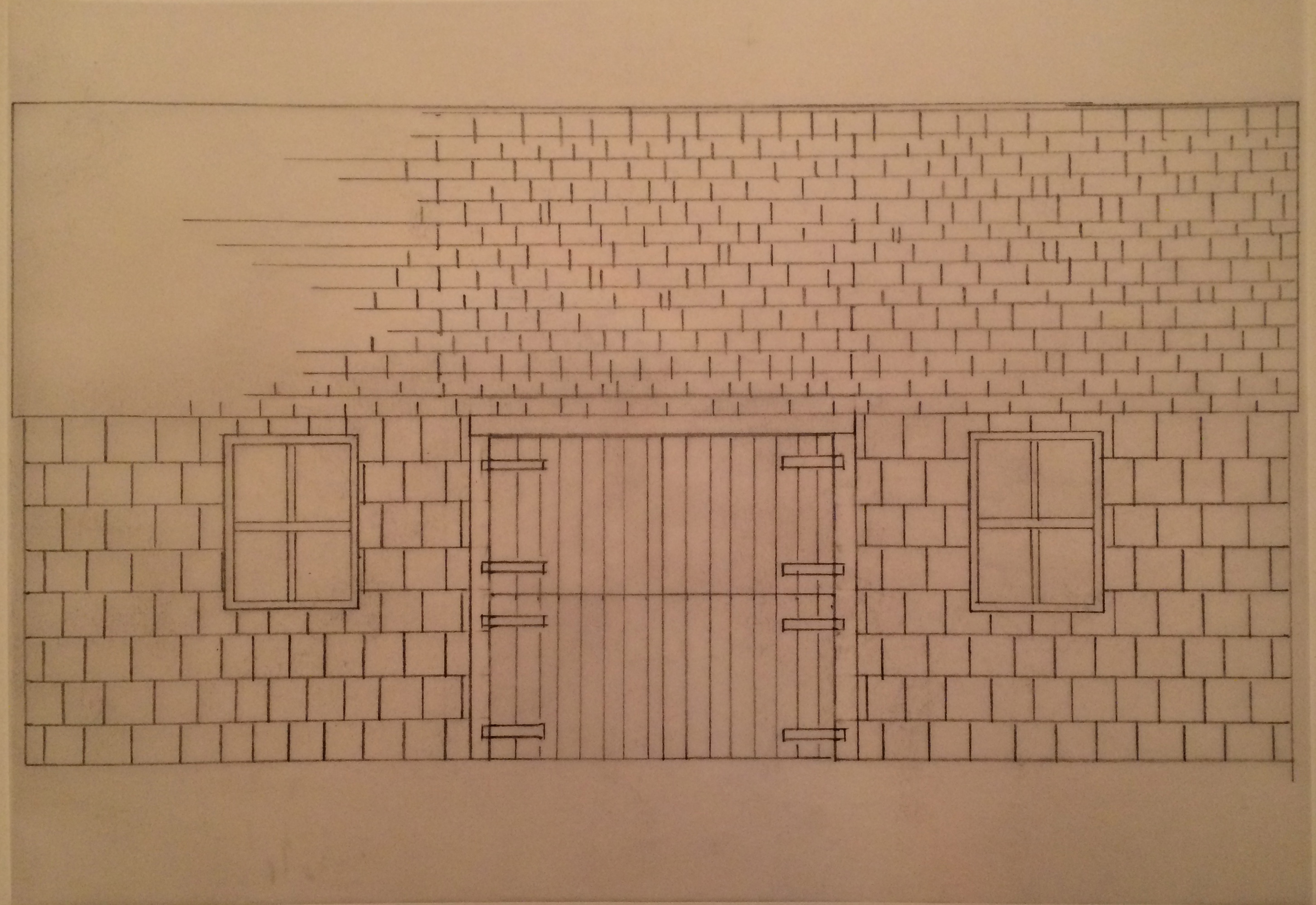 Barn design front view sketch
