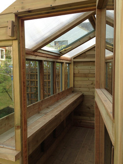 Potting shed and garden store (interior view), private client, Brighton