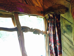 Blackberry Wood campsite treehouse window detail