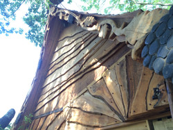 Carved barge boards detail