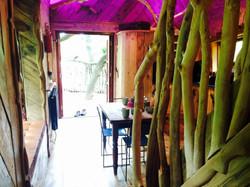 Treehouse interior/exterior view