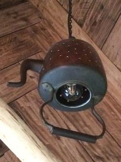 Tea pot hanging light