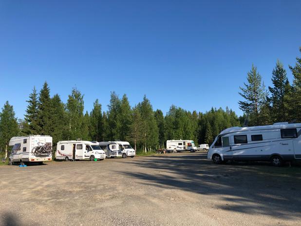 Fullt på campingplatsen