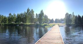 Campingplatsen från bryggan