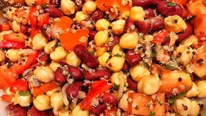 Red Bean Chickpea Quinoa Salad