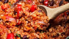 Vegan Red Quinoa Chili