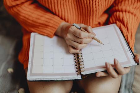 Qual é a sua agenda para hoje?