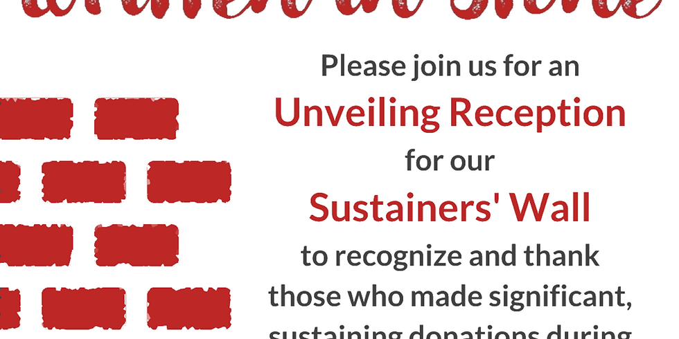 Sustainers' Wall Unveiling Reception