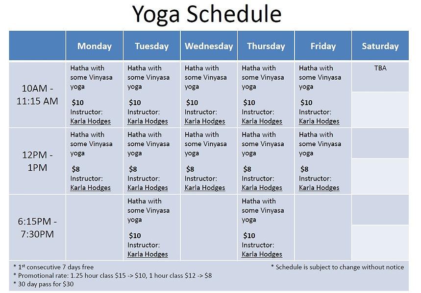 yoga schedule lifeline wellness center.j
