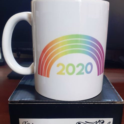 White 15oz JUMBO mug 'Rainbow 2020'