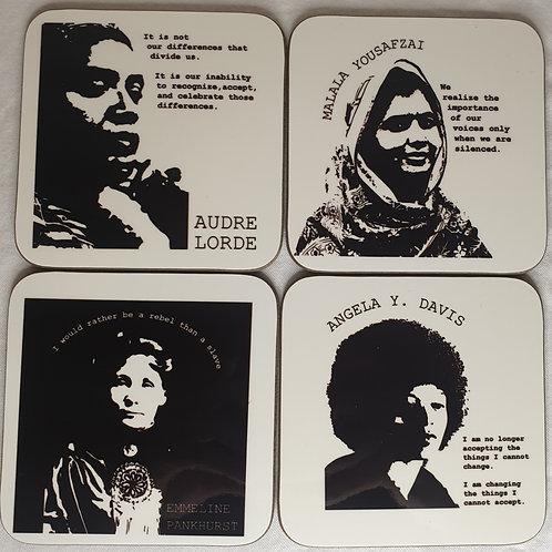 'Women's Voices' coasters set