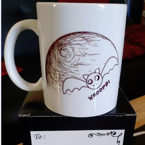 Black 11oz colour changing mug 'Bat (crazy world)