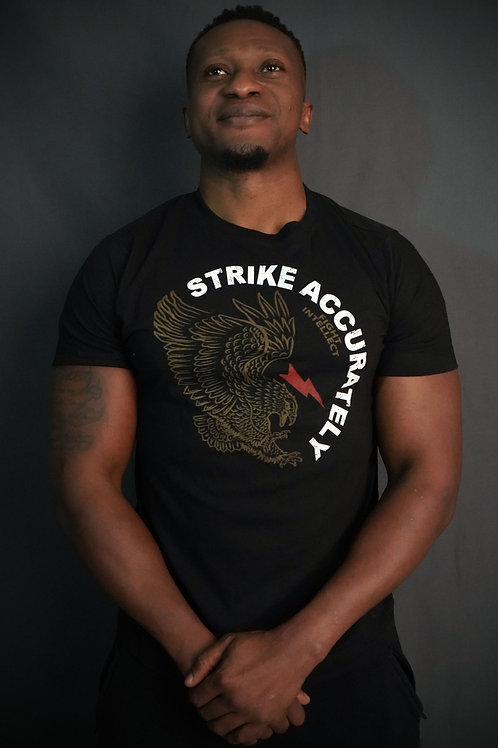'Strike accurately' T-shirt