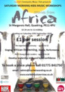 SCMC African Drumming Workshops 2018 fly