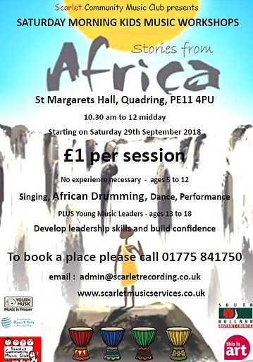 SCMC African Drumming Workshops 2018 fly