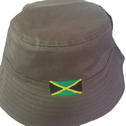Embroidered Jamaica Bucket Hat - KHAKI