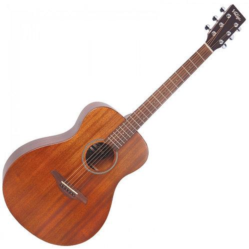 Vintage Acoustic Folk Guitar ~ Mahogany