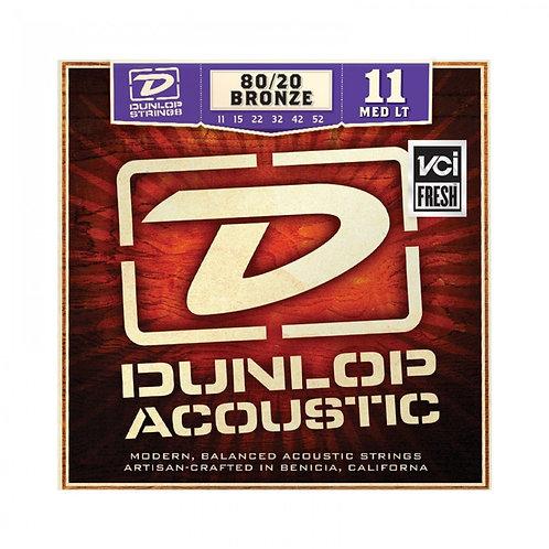 Dunlop 20/80 Brass Acoustic Strings - Medium/Light