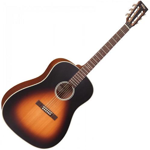 Vintage Historic Series Dreadnought Electro-Acoustic Guitar ~ Vintage Sunburst