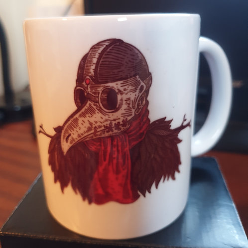 White 11oz mug 'Plague Doctor'
