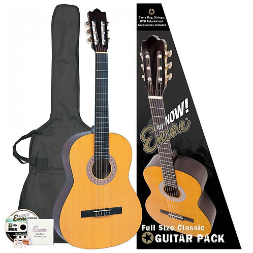 Encore Full Size Classic Guitar Outfit - Natural