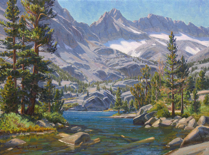 """""""Blue-Lake-Atmosphere"""" by Charles Muench"""